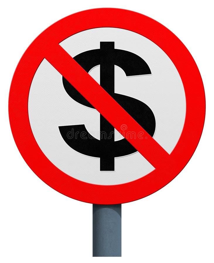 Żadny dolarowy znak ilustracja wektor
