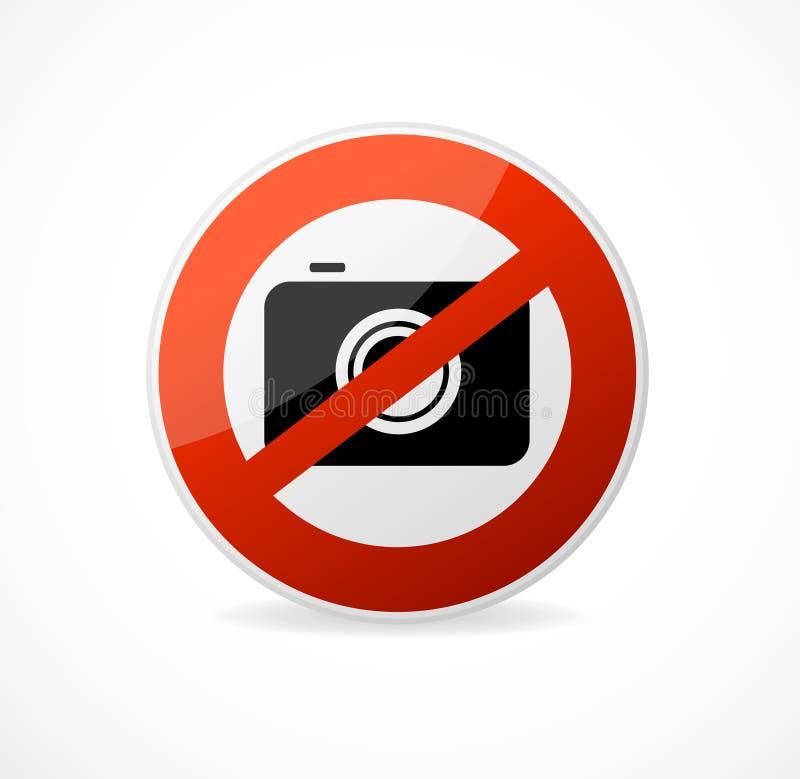 Żadny fotografii kamery wektoru znak odizolowywający ilustracja wektor
