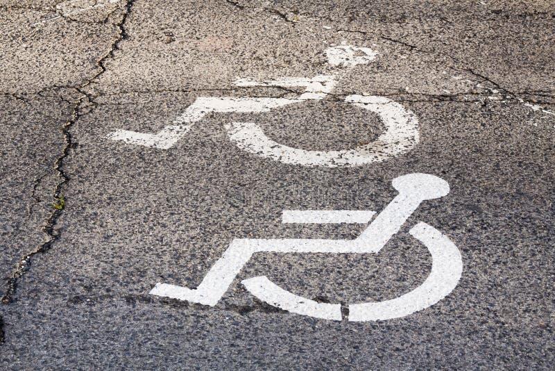 Żadny parking na miejscu dla niepełnosprawnej osoby obraz royalty free