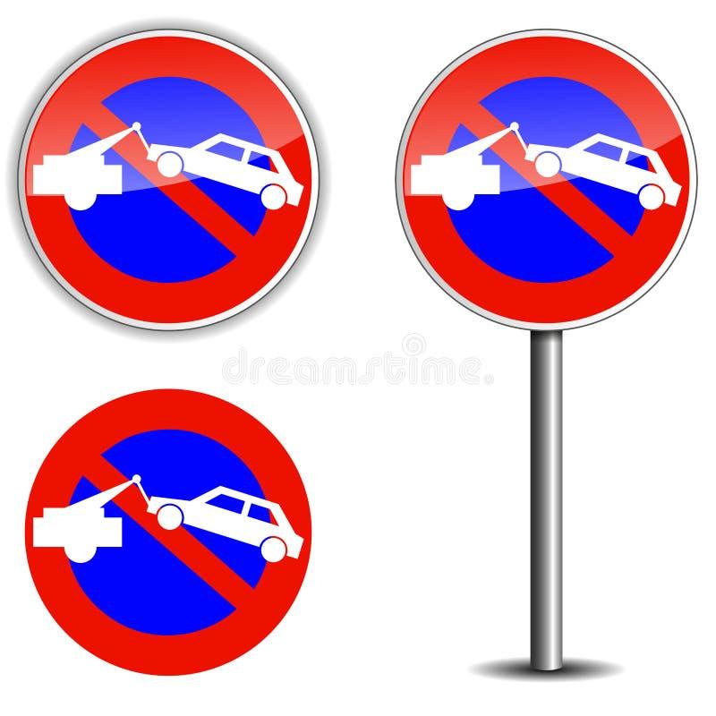 Żadny parkowy znak ilustracji