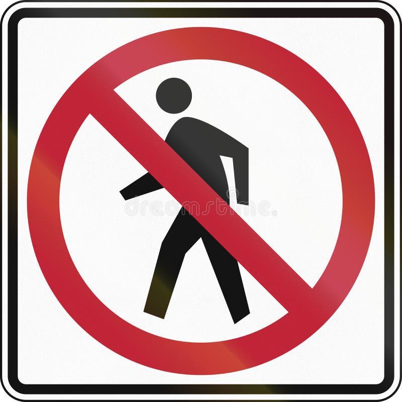 Żadny Pedestrians zdjęcie royalty free