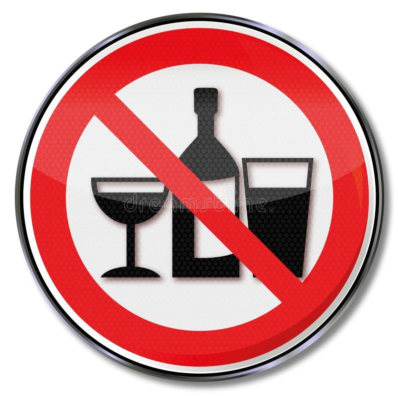 Żadny pić w te pokojach ilustracji