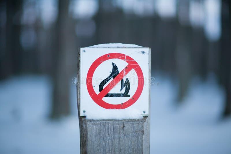 Żadny Pożarniczy znak fotografia stock