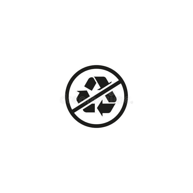 Żadny przetwarza symbol odizolowywający na białym tle ilustracja wektor