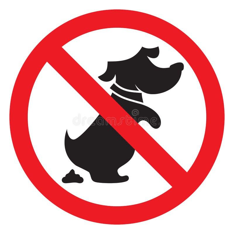 Żadny psi poo znak ilustracji