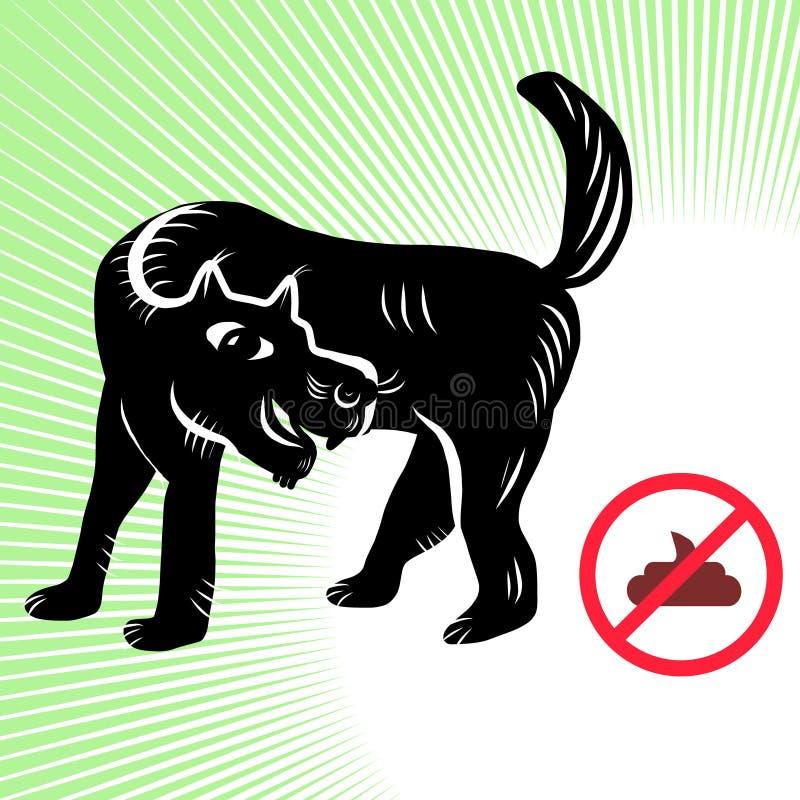 Żadny psy srali na ulicie ilustracji