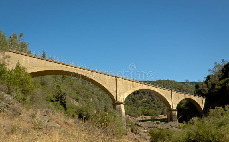 Żadny ręka most - Stary Kolejowy most zdjęcie stock