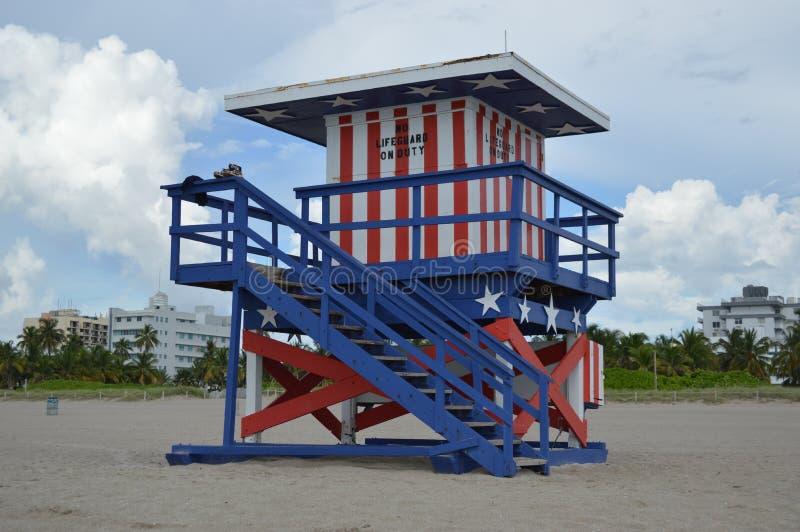 Żadny ratownicy na plaży fotografia stock