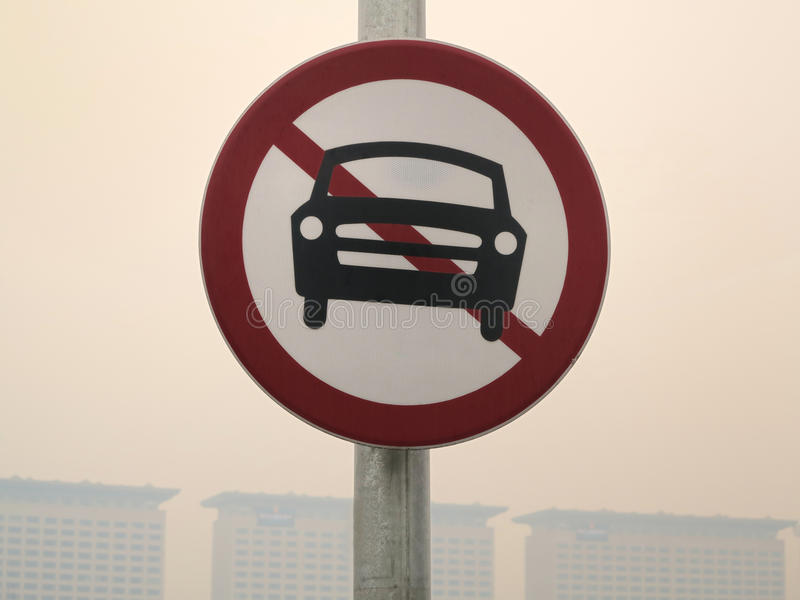 Żadny samochodu znak fotografia royalty free