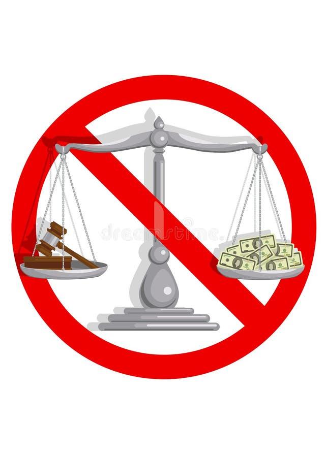 Żadny skorumpowany sąd ilustracji