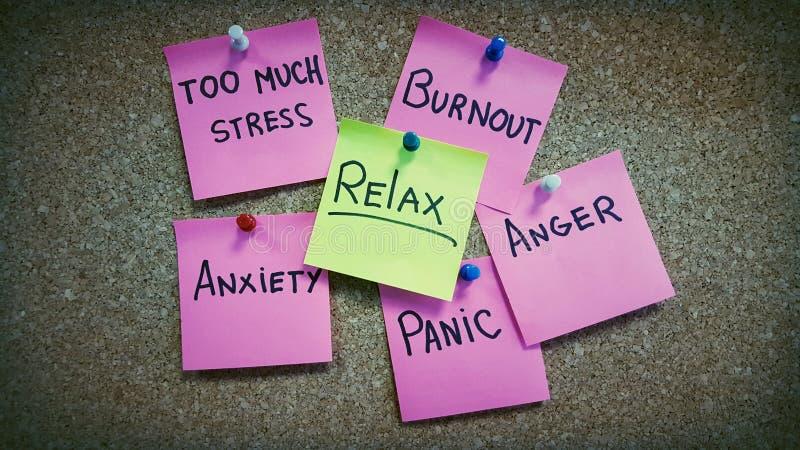 Żadny stres psychologii fotografia zdjęcie stock