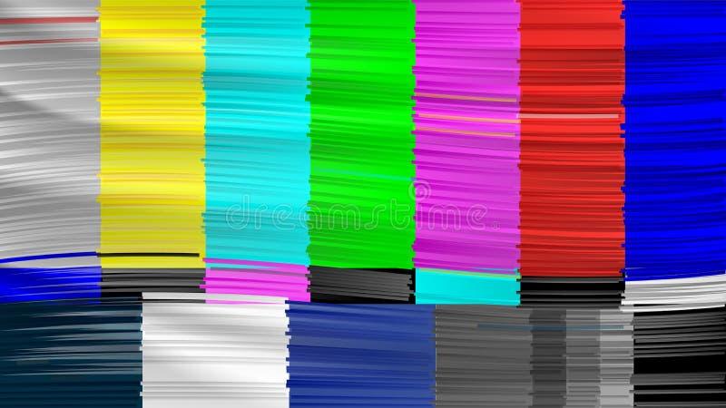 Żadny sygnał TV Potomek sieć brak zasięgu Zniekształcająca usterka tv również zwrócić corel ilustracji wektora royalty ilustracja