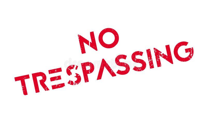 Żadny Trespassing pieczątka ilustracji