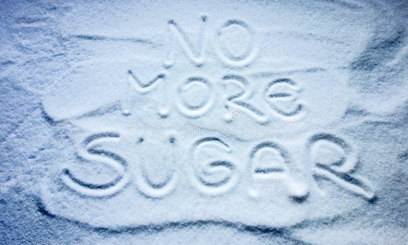 Żadny więcej cukrowy znak fotografia stock