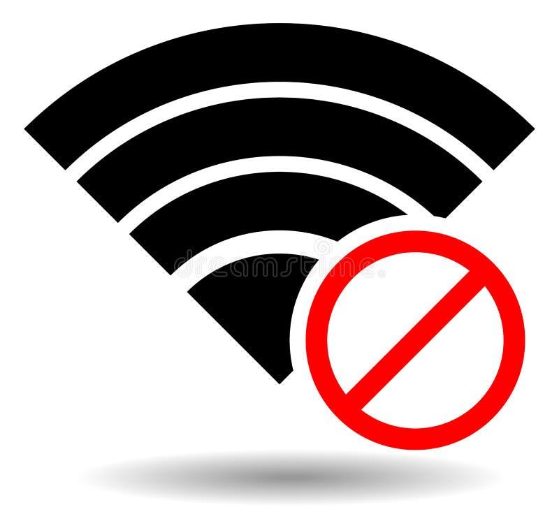 Żadny Zły antena symbol lub sygnał ilustracji