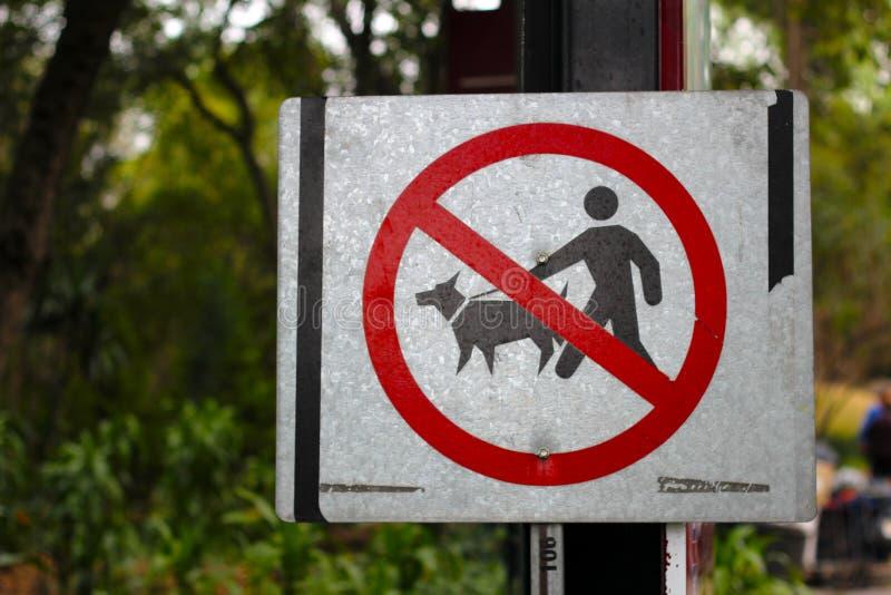 Żadny zwierzę domowe sygnał zdjęcie royalty free