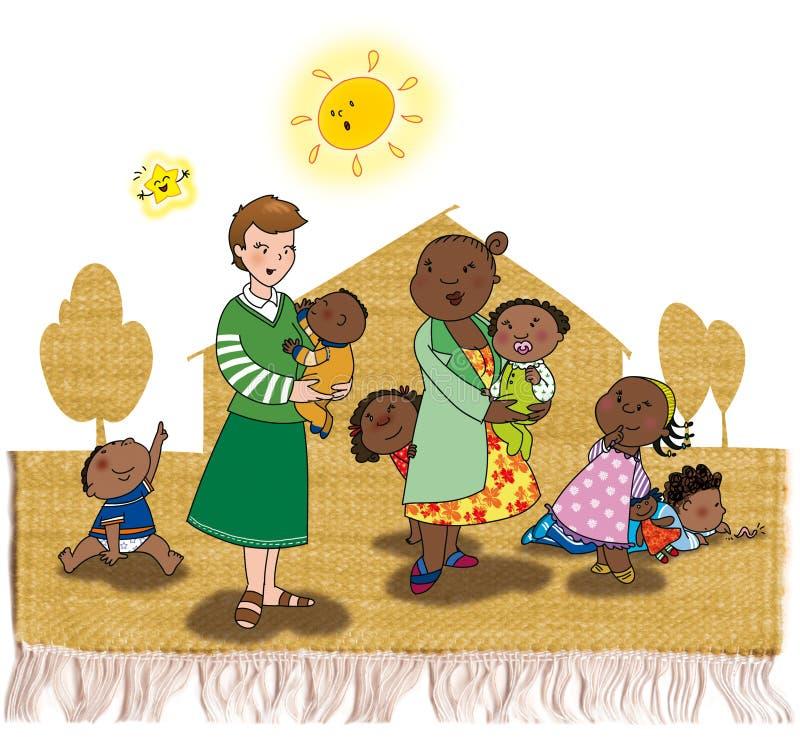 Adoção em África ilustração stock