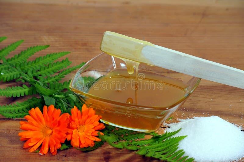 Adoçamento do corpo do mel imagem de stock royalty free