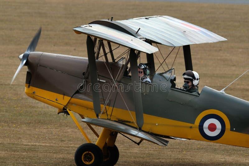 ADO de Havilland 71 Tiger Moth Aviones de entrenamiento británicos foto de archivo libre de regalías