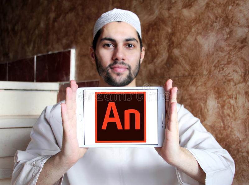 Adobe赋予生命的软件商标 免版税库存照片