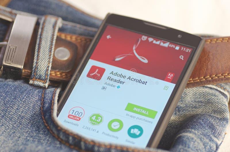 Adobe Acrobat Reader fotografía de archivo libre de regalías
