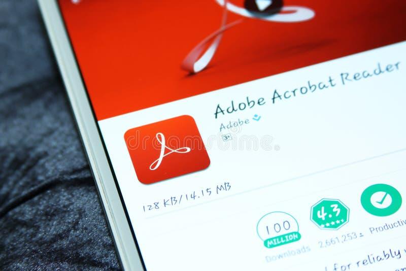 Adobe Acrobat Reader app móvil imagen de archivo libre de regalías