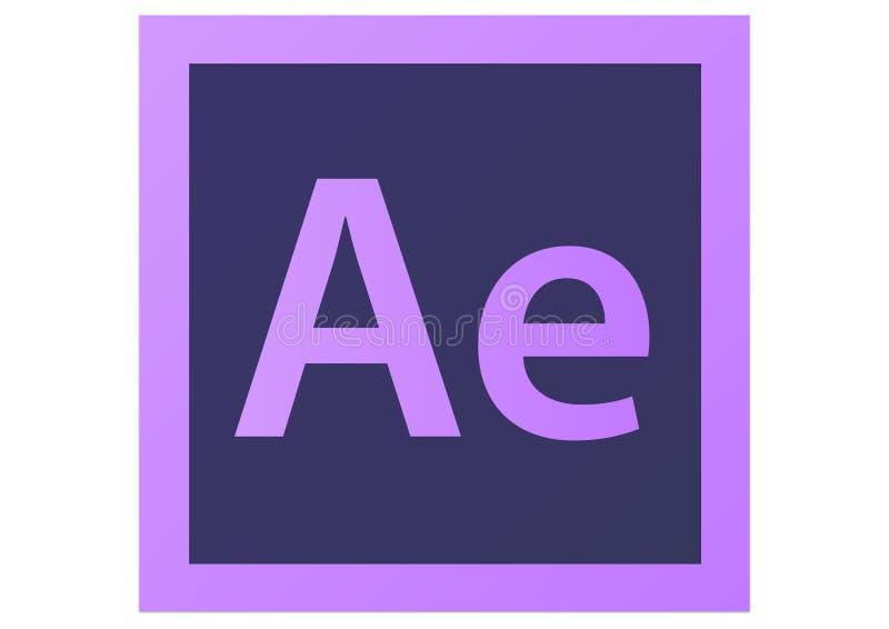 Adobe após o logotipo do efeito CS6 ilustração do vetor