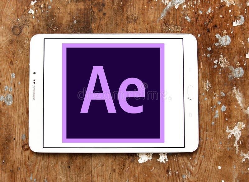 Adobe après logo d'effets photo libre de droits