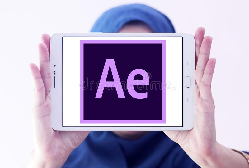 Adobe après logo d'effets photo stock