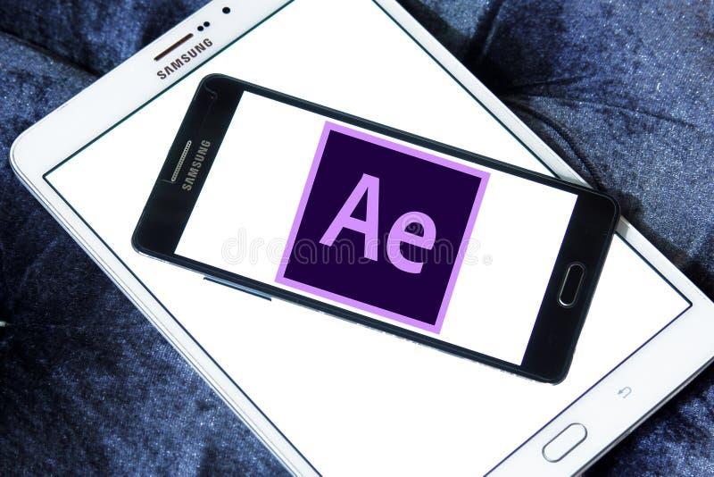 Adobe après logo d'effets photographie stock