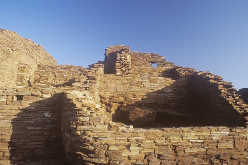 Adobe brick walls, circa 1100 AD, Citadel Pueblo Indian ruins of the Kayenta Anasazi tribe, AZ royalty free stock images