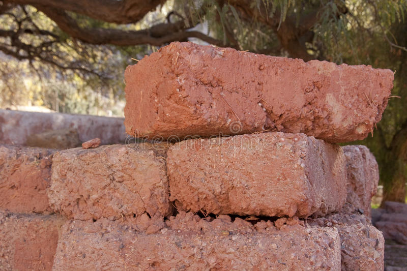 Adobe Bricks. Used for building in the Andes - Argentina stock image