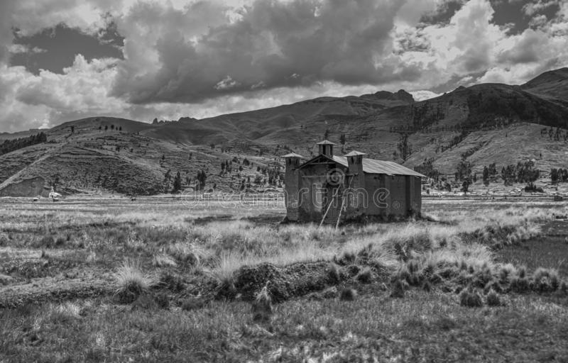 Adobe Church In The Plains Of The Andes Mountains royalty free stock photography