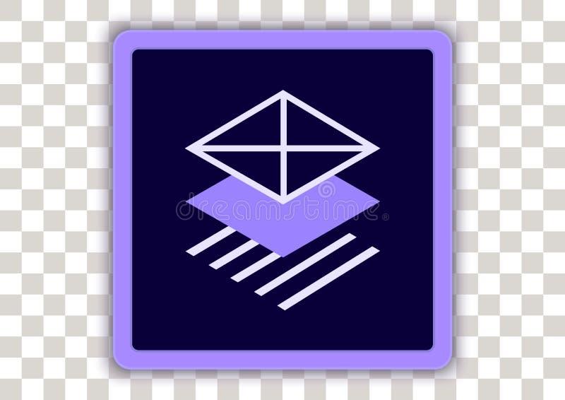 Adobe comp cc. Design vector of adobe icon mobile app with symbol inside vector illustration