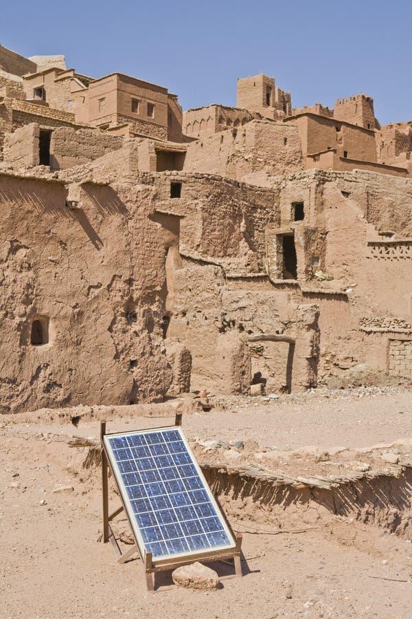 Adobe e energia verde, Marrocos imagens de stock