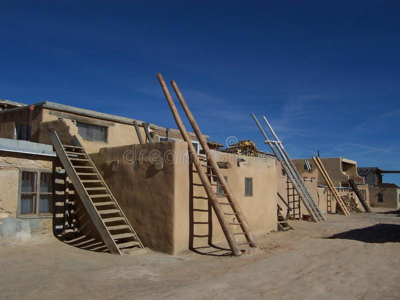 Adobe Flat Roofed Houses Royalty Free Stock Photos