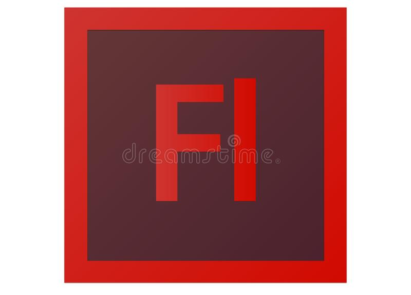 Adobe-Flitscs6 Embleem stock illustratie