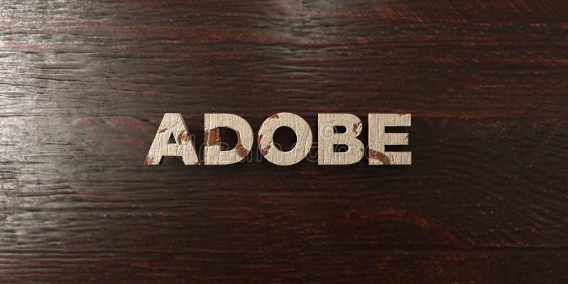 Adobe - grungy houten krantekop op Esdoorn - 3D teruggegeven royalty vrij voorraadbeeld stock illustratie
