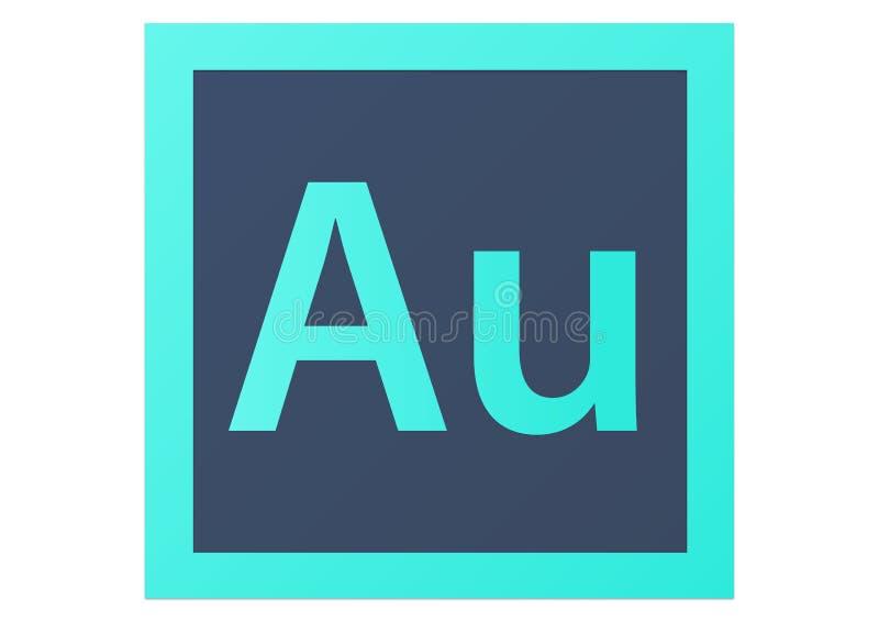 Adobe-het Embleem van Auditiecc stock illustratie
