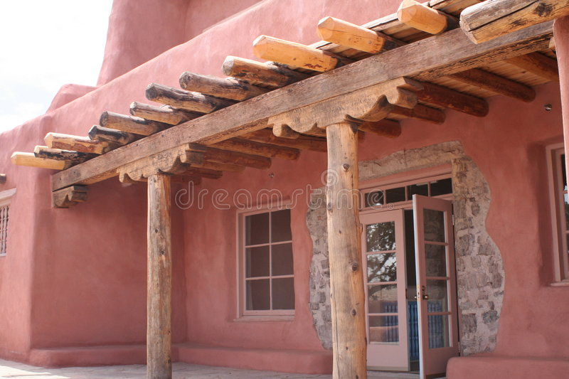 Adobe Home. An adobe house on the edge of the Painted Desert stock image