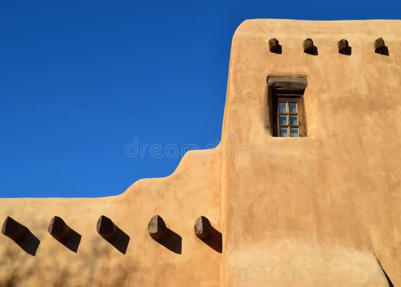 Adobe House in Santa Fe. An Adobe style building in Santa Fe, New Mexico royalty free stock photos
