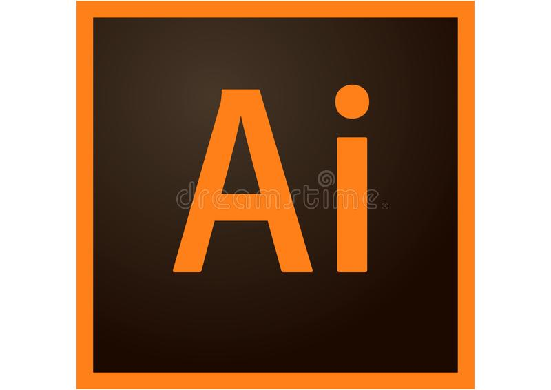 Adobe Illustrator CC Logo. On a white background, vector format avaliable royalty free illustration