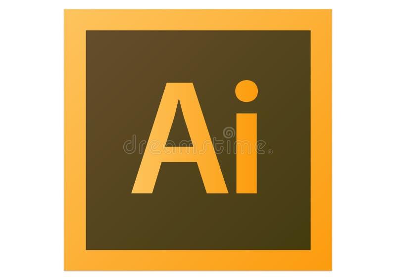 Adobe-Illustratorcs6 Embleem royalty-vrije illustratie