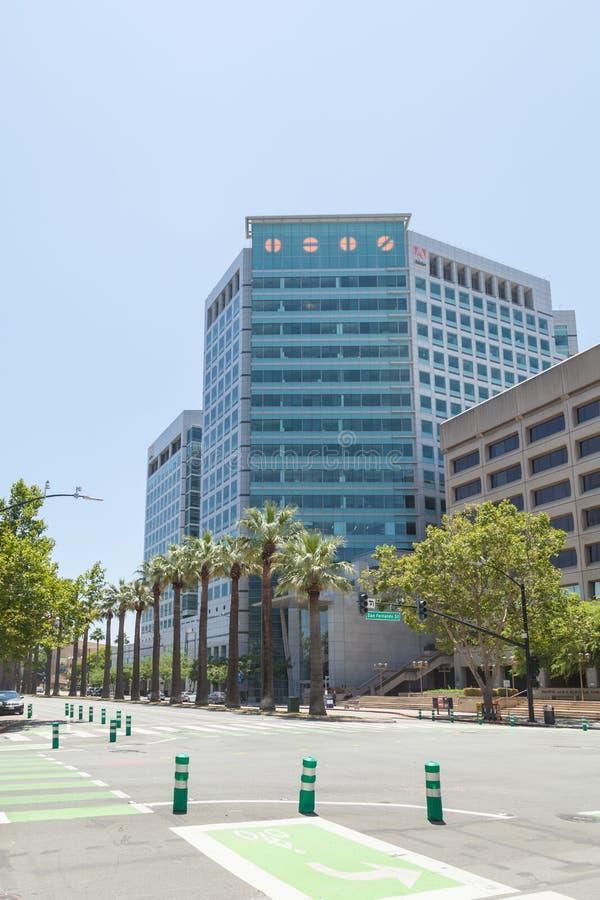 Adobe Inc штаб Эффект, центр города стоковая фотография