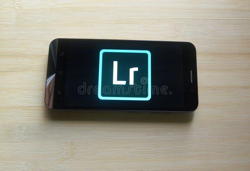 Adobe Lightroom应用程序 免版税库存照片