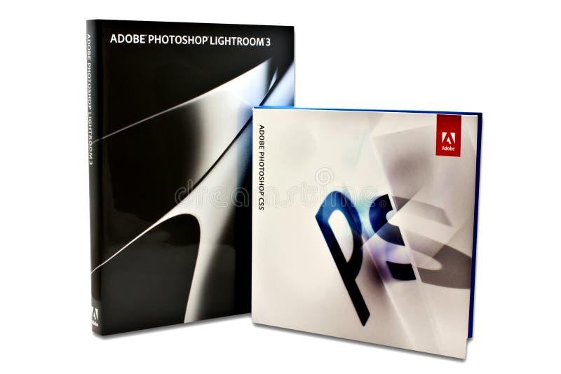 Adobe Lightroom et Photoshop photo stock