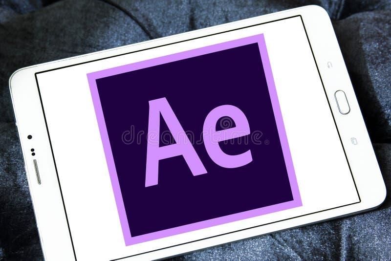 Adobe nach Effektlogo stockfoto