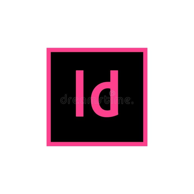 Adobe-Pictogrammen Photoshop, Illustrator en de Redactievector van Indesign royalty-vrije illustratie