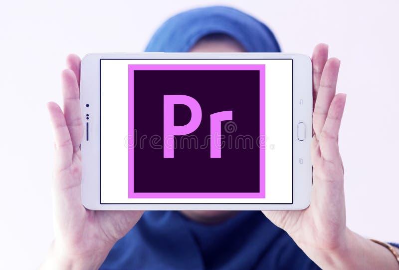 Adobe-Première Proembleem royalty-vrije stock foto
