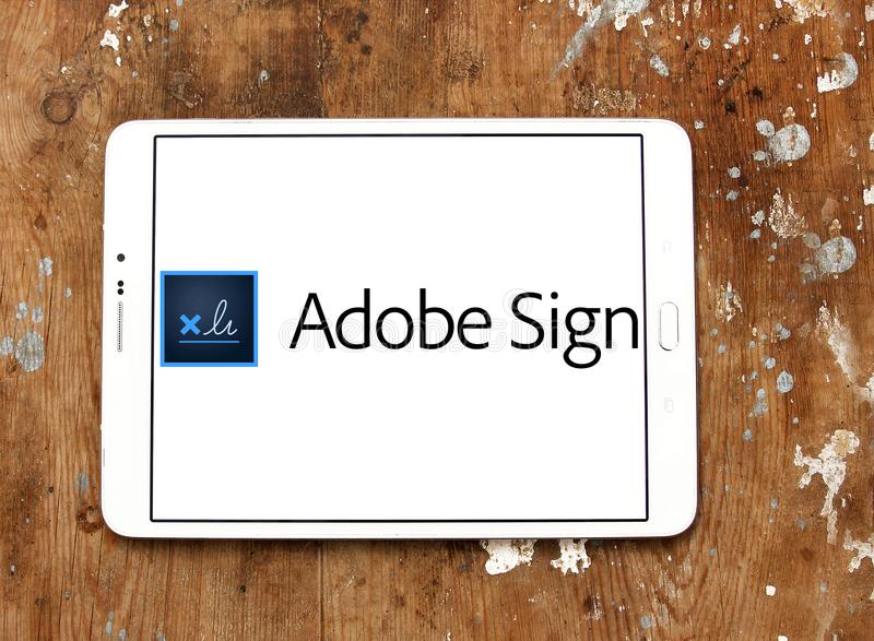 adobe sign logo editorial image image of adobe logos 118508455